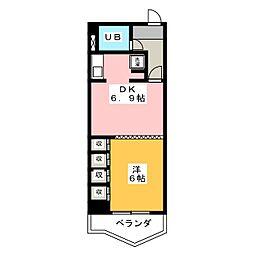 レインボー第2金山[7階]の間取り