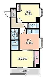 プライムハウス(和室を洋室に変更)[301(角部屋)号室]の間取り