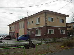 秋田県横手市横手町字六ノ口の賃貸アパートの外観