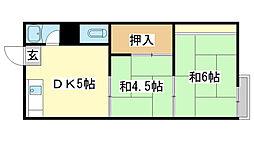 東辻井アパート[1-3号室]の間取り