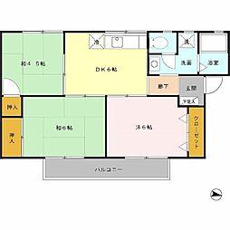 大阪府枚方市山之上1の賃貸アパートの間取り