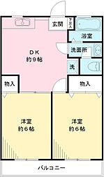 高橋マンションB[1階]の間取り