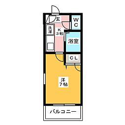 スライビング冷泉[7階]の間取り