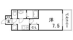 アドバンス三宮グルーブ[10階]の間取り