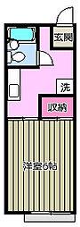 ラ・セジュール[1階]の間取り