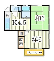 パークコート[2階]の間取り