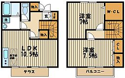 [タウンハウス] 東京都府中市本宿町4丁目 の賃貸【/】の間取り