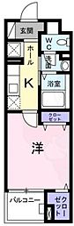 Osaka Metro千日前線 日本橋駅 徒歩10分の賃貸マンション 1階1Kの間取り