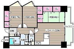 グリーンシティOSAKA参号棟[3階]の間取り