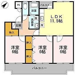 プレジデントタカヤ5[4階]の間取り