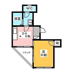 ナカムラハイツ[4階]の間取り