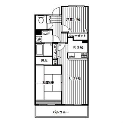 シンベルク横濱[402号室]の間取り