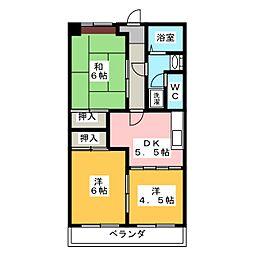 豊田ビル伊勢スカイマンション[5階]の間取り