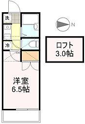 サントノーレ旭ヶ丘 (アパートナー)[3階]の間取り