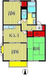 メゾンシエールIII[2階]の間取り