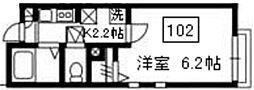 神奈川県川崎市川崎区大師駅前1丁目の賃貸アパートの間取り