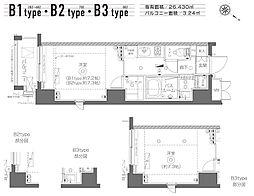 東京メトロ日比谷線 築地駅 徒歩19分の賃貸マンション 5階1Kの間取り