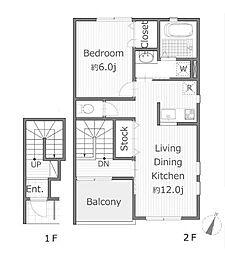 アベリア[2階]の間取り