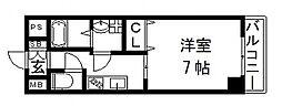 荒本駅徒歩3分 ゼファー・東大阪[10階]の間取り