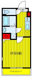 JR京浜東北・根岸線 王子駅 徒歩10分の賃貸マンション 3階1Kの間取り