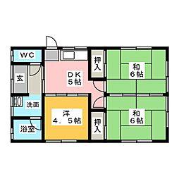 [一戸建] 静岡県富士宮市粟倉南町 の賃貸【/】の間取り