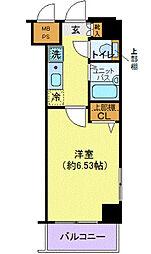 ヴェルト日本橋III(ヴェルトニホンバシサン)[7階]の間取り