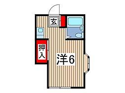 パークハイツMIKIE[1階]の間取り