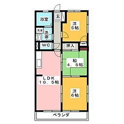 ファミール豊島[3階]の間取り