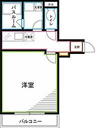 JR中央本線 荻窪駅 徒歩15分の賃貸マンション 5階1Kの間取り
