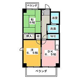 ドミール本笠寺[5階]の間取り