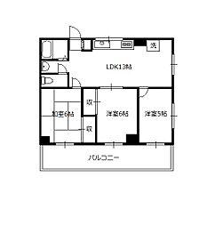 レオナマンション[2階]の間取り
