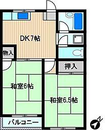 グリーンハウス・クスノキ[2階]の間取り