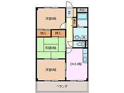 三重県鈴鹿市算所5の賃貸マンションの間取り