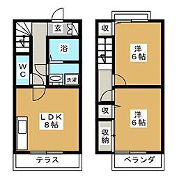 [テラスハウス] 三重県亀山市住山町 の賃貸【/】の間取り
