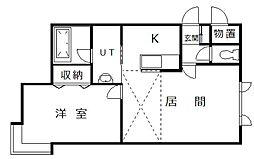 ルアン A棟[2階]の間取り