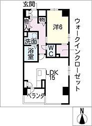 ルミエール浄心[4階]の間取り