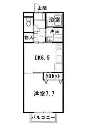 鳥取県米子市東福原1丁目の賃貸アパートの間取り