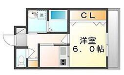 高松琴平電気鉄道琴平線 三条駅 徒歩14分の賃貸マンション 3階1Kの間取り