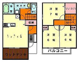 [テラスハウス] 福岡県福岡市東区和白東5丁目 の賃貸【/】の間取り
