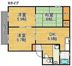 サニーコート半田A〜F棟[2階]の間取り