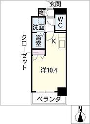 エルスタンザ東別院[8階]の間取り
