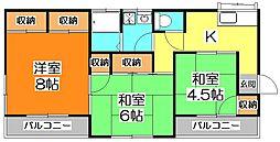 松本貸家[2階]の間取り