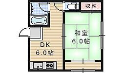 公楽園マンション[3階]の間取り