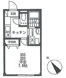 プレジャデス-21[203号室号室]の間取り