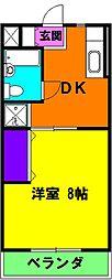静岡県浜松市東区中里町の賃貸マンションの間取り