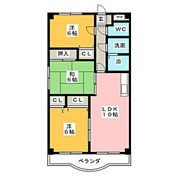 三日市TSガーデンアベニュー[4階]の間取り