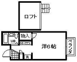レオパレスFUKUMURA 3[102号室]の間取り