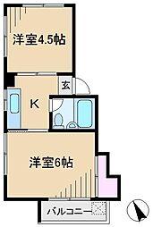 東京都豊島区駒込1丁目の賃貸マンションの間取り