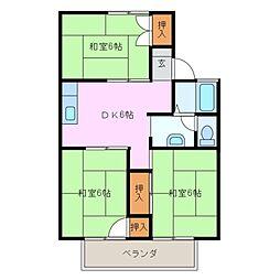 三重県四日市市芝田1丁目の賃貸アパートの間取り