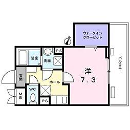 西武新宿線 新井薬師前駅 徒歩7分の賃貸マンション 3階1Kの間取り